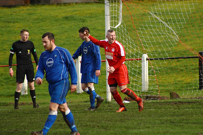 John Yule celebrates his goal  Johnstone Burgh 1 Carluke Rovers 2 Stagecoach West of Scotland League Central District  First Division Keanie Park 22/03/2014