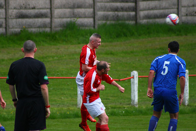 John Yule clears  Johnstone Burgh 1 Lanark Utd 5 Stagecoach West of Scotland League Central District  First Division Keanie Park 17/05/2014