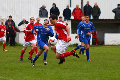 John McStay gathers the ball  Johnstone Burgh 1 Lanark Utd 5 Stagecoach West of Scotland League Central District  First Division Keanie Park 17/05/2014