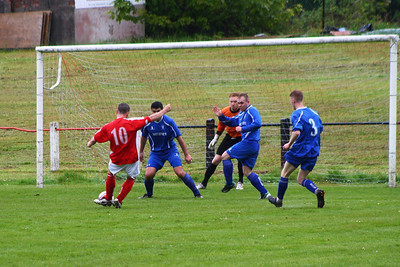 John Sherry has a shot blocked.This was his last game before retiring.  Johnstone Burgh 1 Lanark Utd 5 Stagecoach West of Scotland League Central District  First Division Keanie Park 17/05/2014
