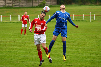 Gordon Ion clears  Johnstone Burgh 1 Lanark Utd 5 Stagecoach West of Scotland League Central District  First Division Keanie Park 17/05/2014