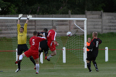 Johnstone Burgh 1 Greenock Juniors 1 Central Sectional League Cup Keanie Park 07/08/2013 Ross Perrie goes close