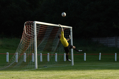 Johnstone Burgh 1 Greenock Juniors 1 Central Sectional League Cup Keanie Park 07/08/2013 Mark Monk saves this free kick