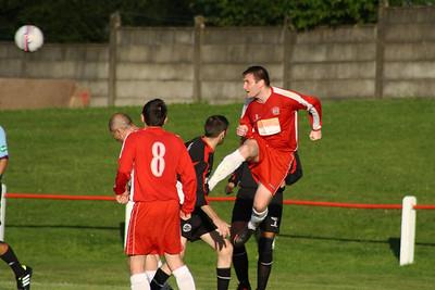Johnstone Burgh 1 Greenock Juniors 1 Central Sectional League Cup Keanie Park 07/08/2013 Ian Ross clears