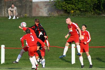 Johnstone Burgh 1 Greenock Juniors 1 Central Sectional League Cup Keanie Park 07/08/2013 John Yule clears