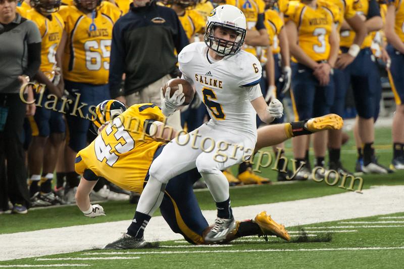 2014 Clarkston Varsity Football vs  Saline 220