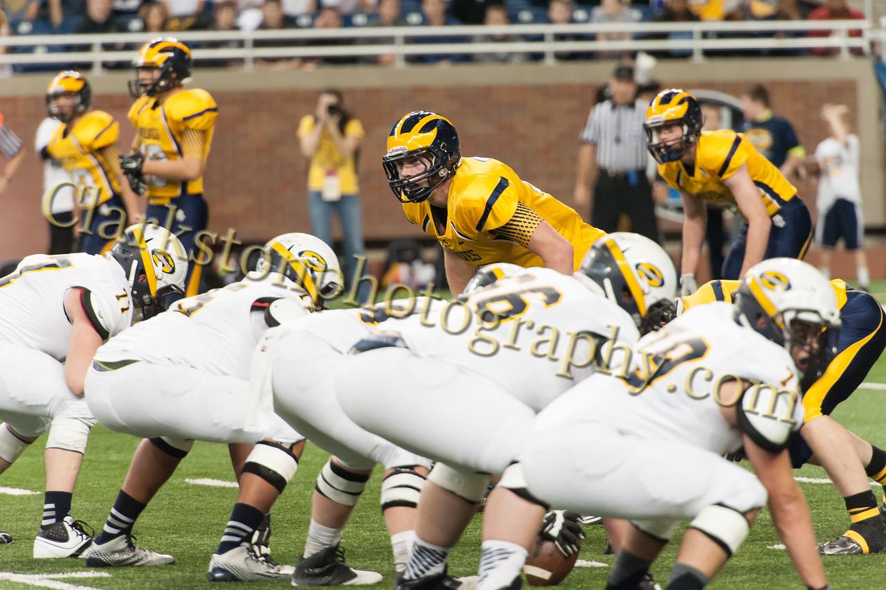 2014 Clarkston Varsity Football vs  Saline 125