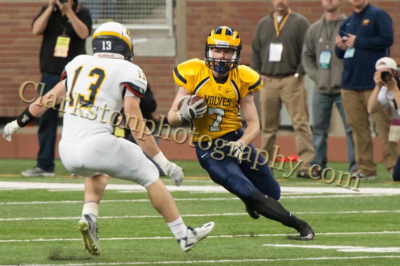 2014 Clarkston Varsity Football vs  Saline 245