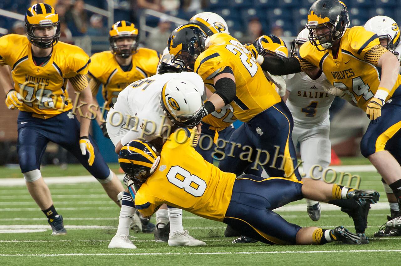 2014 Clarkston Varsity Football vs  Saline 103