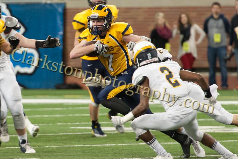 2014 Clarkston Varsity Football vs  Saline 250