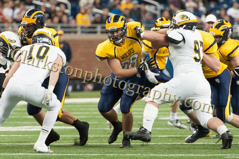 2014 Clarkston Varsity Football vs  Saline 178