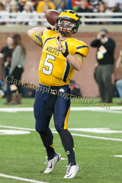 2014 Clarkston Varsity Football vs  Saline 138