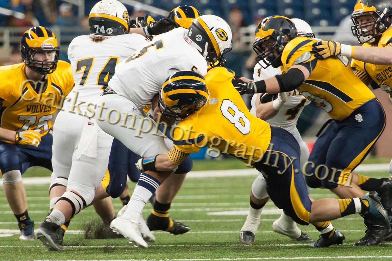 2014 Clarkston Varsity Football vs  Saline 102