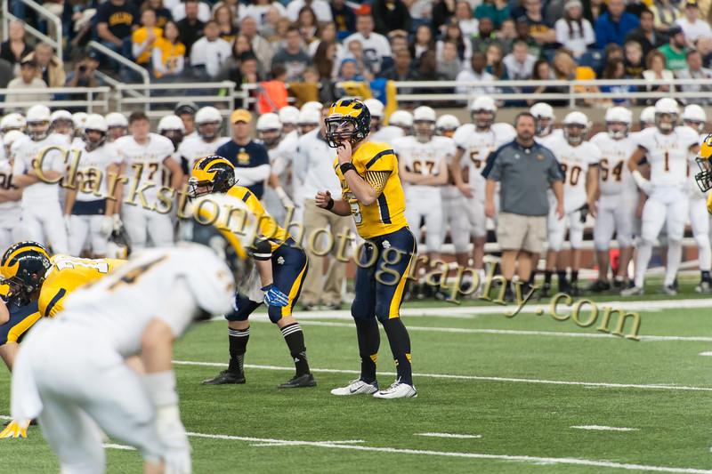 2014 Clarkston Varsity Football vs  Saline 165