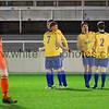 Stocksbridge players celebrating the goal