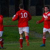 Johnstone Burgh 1 Rutherglen Glencairn 3<br> Euroscot Eng Central League Cup Round 2<br> Keanie Park<br> 09/05/2016<br> <i>John McStay after scoring Burgh's goal</i>