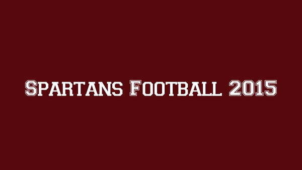 Spartans Football 2015
