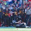 Maryland wide receiver Levern Jacobs out of Suitland High School  delievers one of Marylands infrequent first downs of the game.
