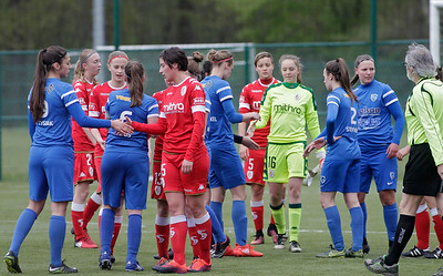 2017-04-22 - GENK - KRC Genk Ladies - Standard Liege - illustration - scenery - carte postal scenic shot - postcard sfeerfoto - sfeer - illustratie
