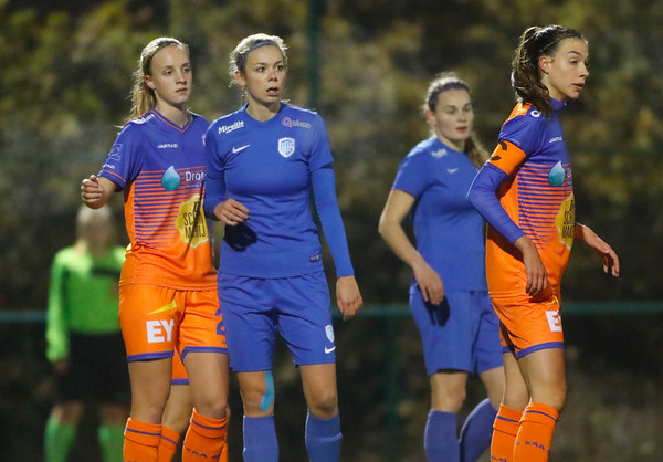 Nadine Hanssen of KRC Genk Ladies  - Lotte De Wilde of KAA Gent Ladies