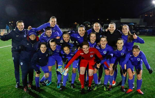 20180120 - KV Mechelen - KRC Genk Ladies Beloften - Illustratie of KRC Genk Ladies Beloften