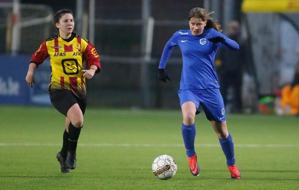 20180120 - KV Mechelen - KRC Genk Ladies Beloften - Aster Janssens of KRC Genk Ladies