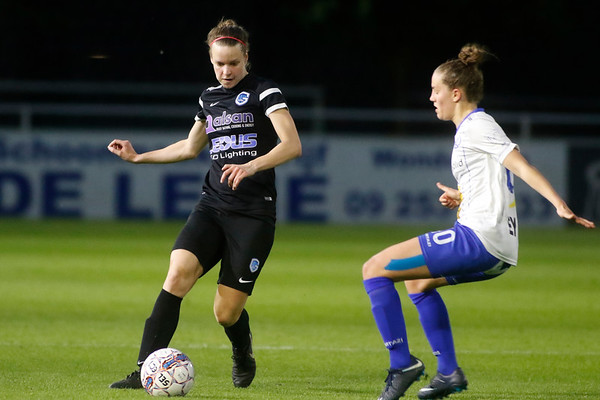Gent - 27-04-2018 - KAA Gent Ladies - KRC Genk Ladies - Lore Vanschoenwinkel of KRC Genk Ladies - Chloe van de Velde of KAA Gent Ladies