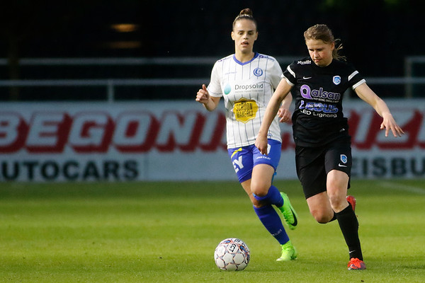 Gent - 27-04-2018 - KAA Gent Ladies - KRC Genk Ladies - Aster Janssens of KRC Genk Ladies - Amber Maximus of KAA Gent Ladies