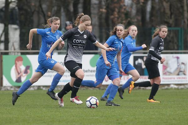 20190126 - Genk - KRC Genk Ladies - Eendracht Aalst - Lisa Jacobs of Eendracht Aalst  Davy Rietbergen / Cor Vos