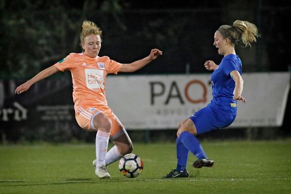 20190417 - Genk - KRC Genk Ladies - RSC Anderlecht - Celien Guns  of KRC Genk Ladies - Charlotte Tison of RSC Anderlecht   (C) Davy Rietbergen/CorVos