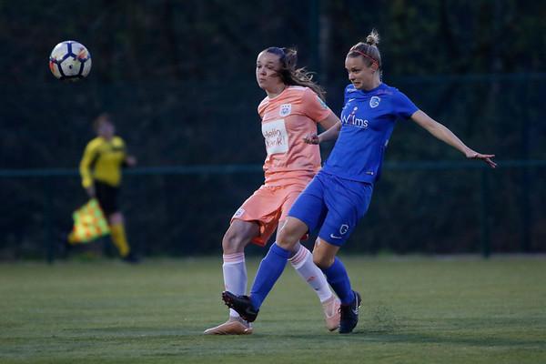 20190417 - Genk - KRC Genk Ladies - RSC Anderlecht - Lore Vanschoenwinkel  of KRC Genk Ladies - Tine De Caigny of RSC Anderlecht   (C) Davy Rietbergen/CorVos
