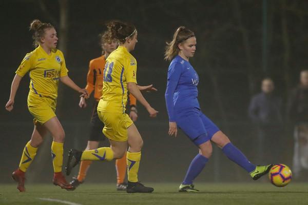 22-02-2018 - Belgie - Genk - KRC Genk Ladies - KSK Heist - Yenthe Kerckhofs of KRC Genk Ladies
