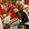 Georgia inside linebacker Roquan Smith (3) during the Bulldogs' game against Samford at Sanford Stadium in Athens, Ga., on Saturday, Sept. 16, 2017. (Photo by Rob Saye)