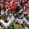 Sony Michel fights for yardage before scoring