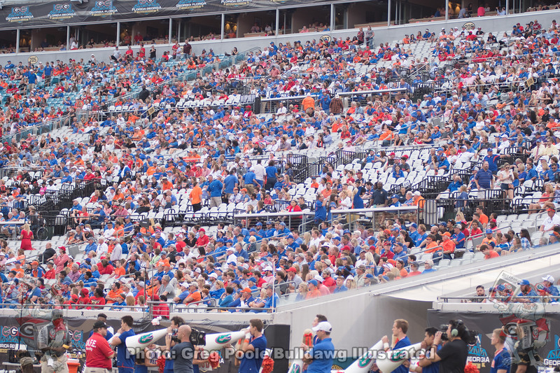 Gator fans disguised as seats