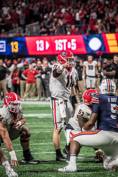Jake Fromm (11) during the 2017 SEC Championship Game