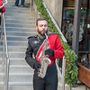Redcoat solo sax playing Glory, Glory - Rose Bowl Bash