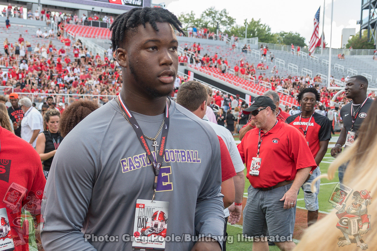 Sedrick Van Pran during a visit to UGA |  September 1, 2018