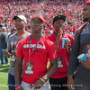 Recruiting guests with Tyson Campbell (hand up) and Jamaree Salyer