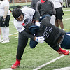 2020 defensive lineman Andy Boykin from Troup County gets taken down during one-on-one drill  – The Opening-Atlanta 2018 – March 25, 2018