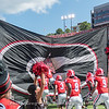 Mecole Hardman (4) is the first player to enter Sanford Stadium from the new west endzone lockerroon