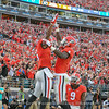 Terry Godwin (5) and Riley Ridley (8)