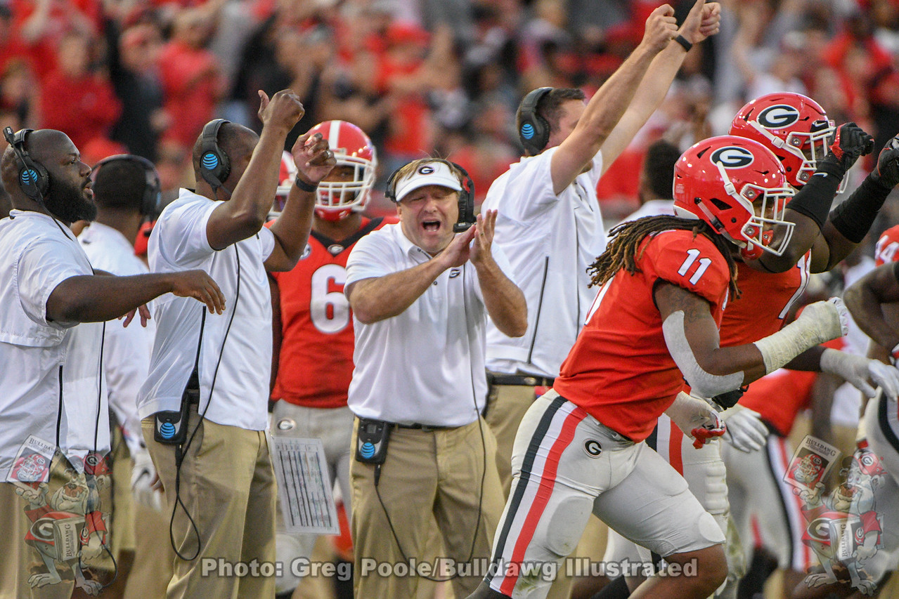 Kirby Smart during the 2018 Georgia-Florida game