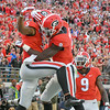 Terry Godwin (5) and Riley Ridley