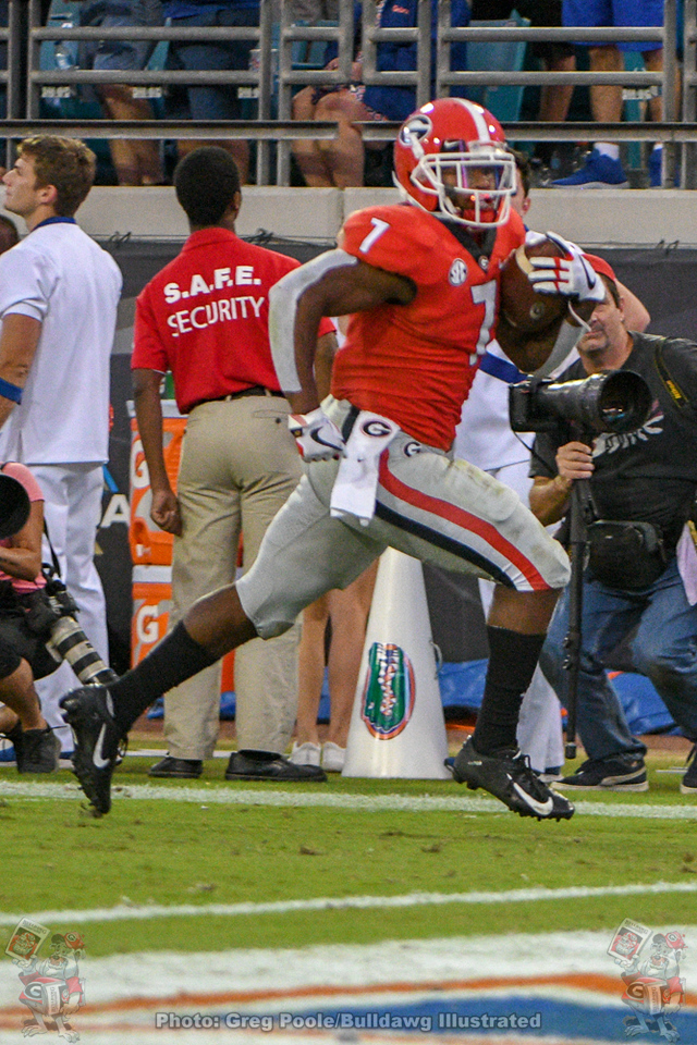 D'Andre Swift (7) during the fourth quarter of the 2018 Georgia-Florida game