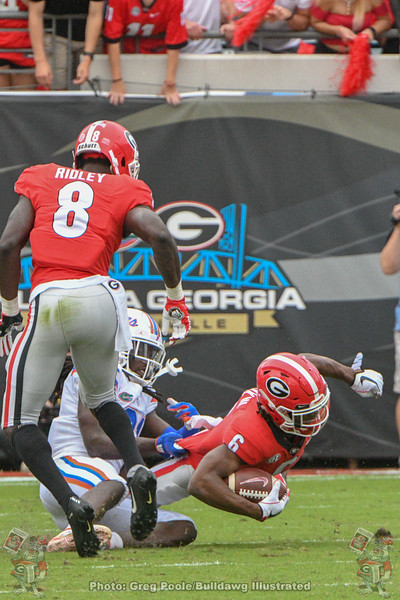 James Cook (6) and Riley Ridley (8)