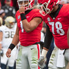 Justin Fields (1) and D'Marcus Hayes (78)