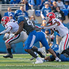 D'Andre Swift (7) with Terry Godwin (5) blocking