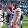Devonte Wyatt (95) and Ben Cleveland (74)