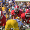 Solomon Kindley (66), D'Andre Swift (7) and Andrew Thomas (71)